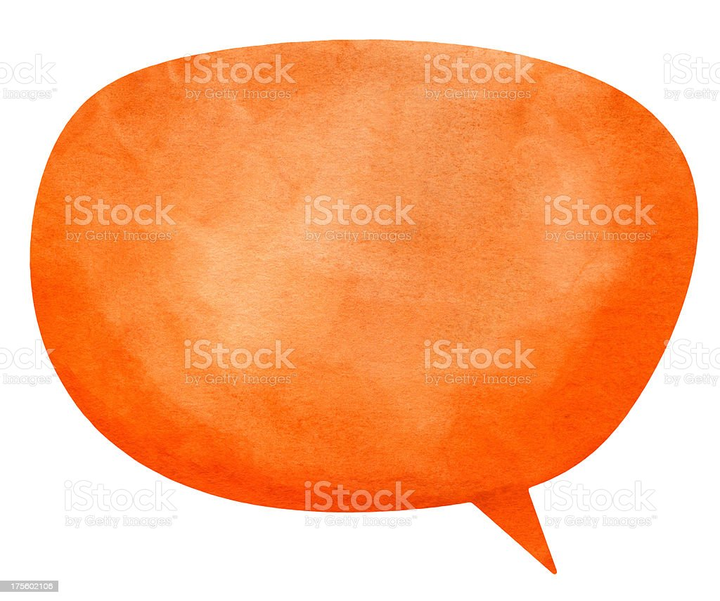 Nanuk Orange Speech Globe royalty-free stock photo