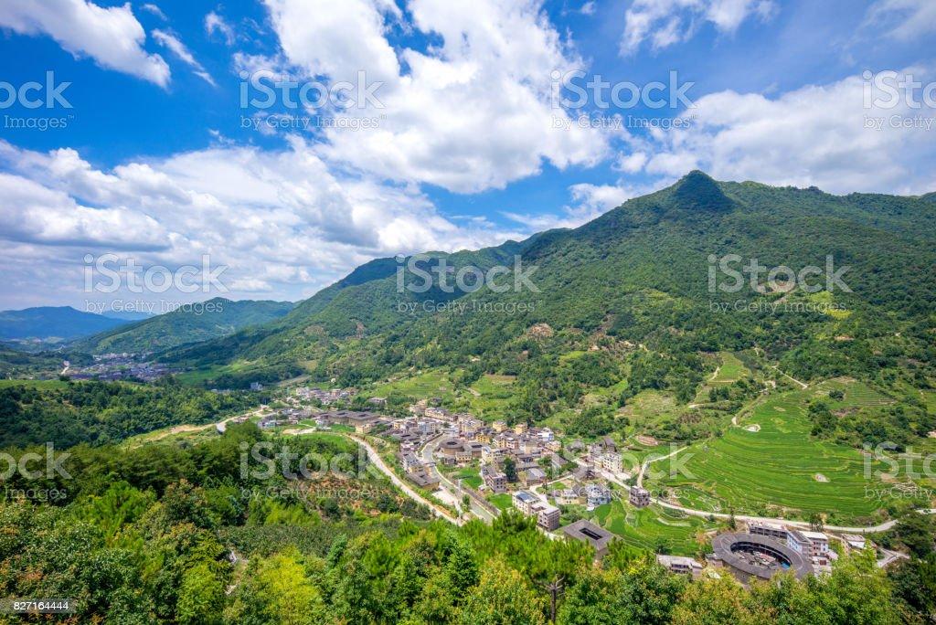 Nanxi Tulou cluster stock photo