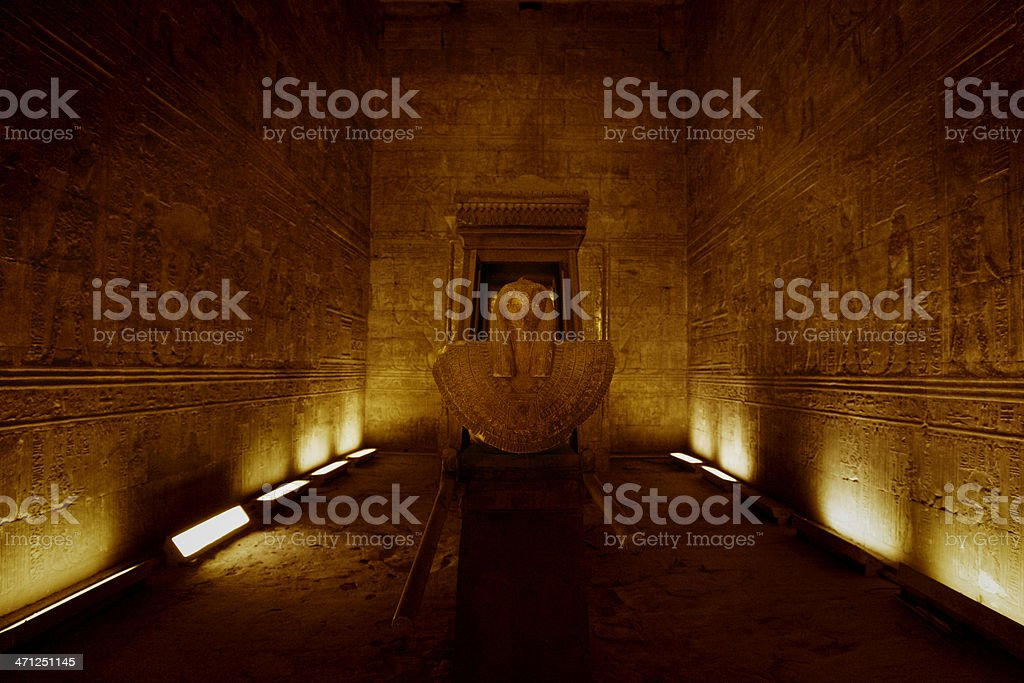 Naos of Nectanebo II - Horus Temple in Edfu stock photo