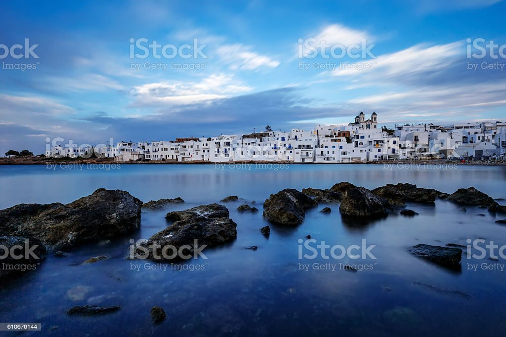 Naousa of Paros stock photo