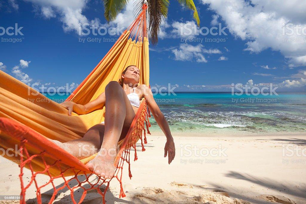 nap in hammock royalty-free stock photo