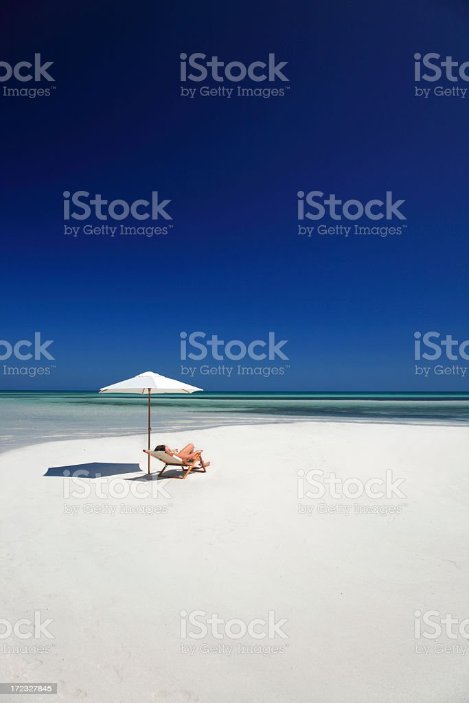 nap on the beach royalty-free stock photo
