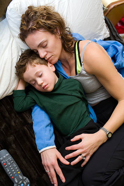 Mom sleeps with son