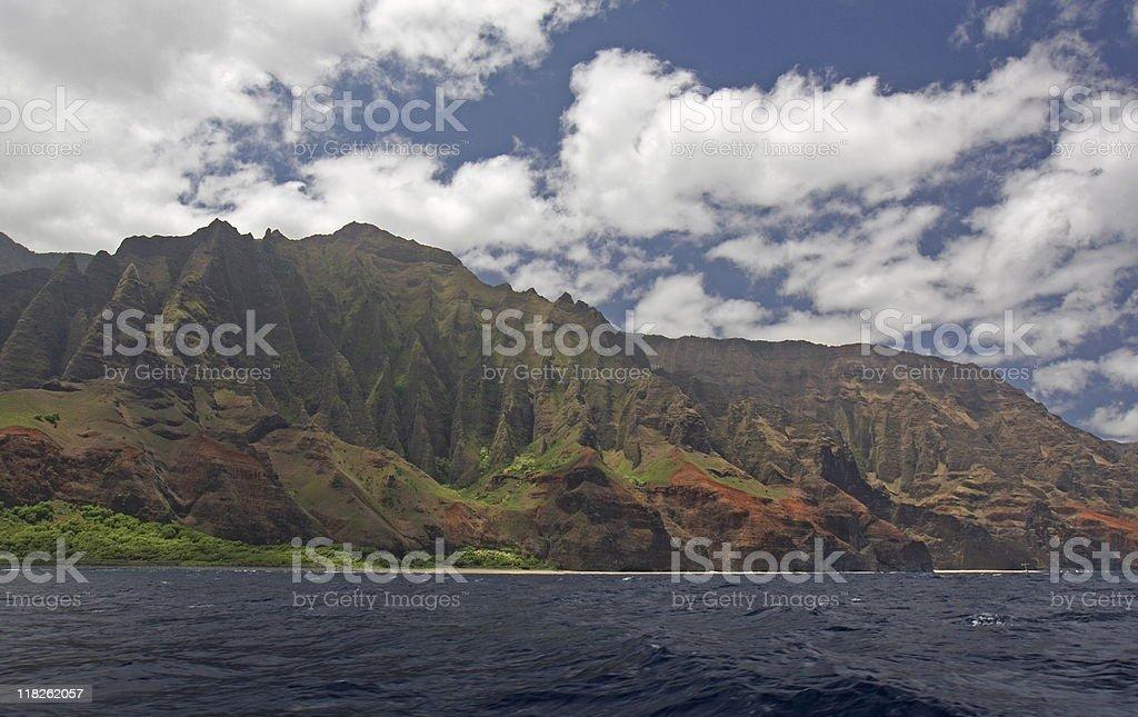 Napali Coast in Kauai stock photo