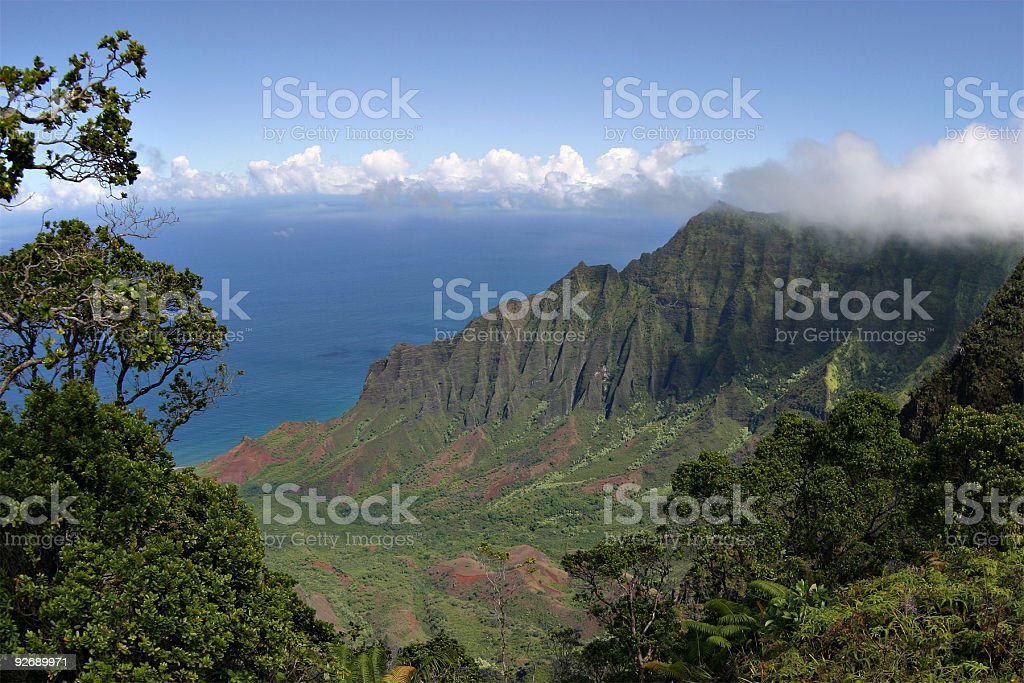 Napali Coastline royalty-free stock photo