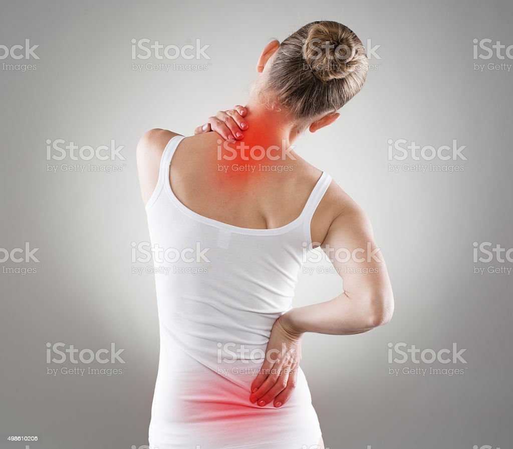 Nape pain stock photo