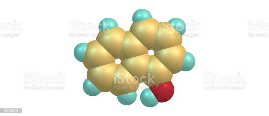Naphthol structure isolated on white background stock photo