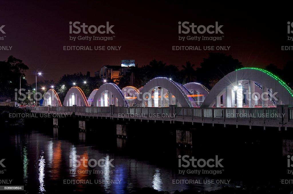 Napier Bridge, Chennai, Tamil Nadu, India, Asia stock photo