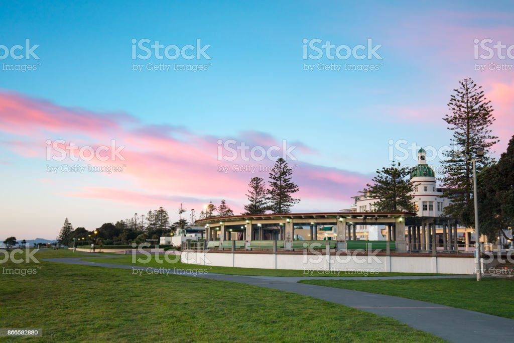 Napier Foreshore at Sunrise stock photo
