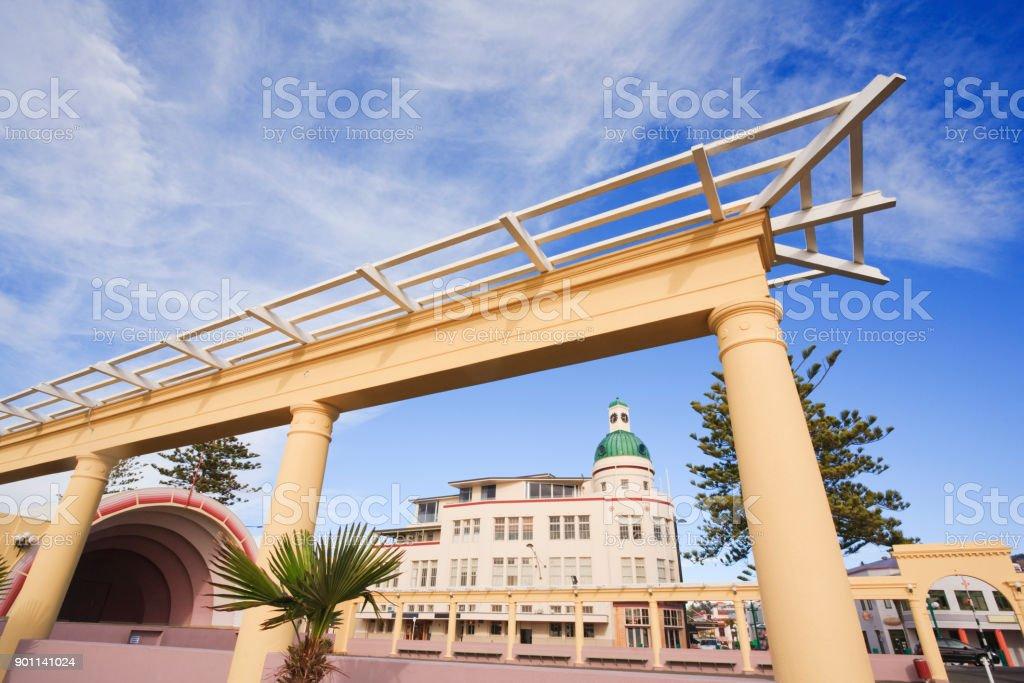 Napier New Zealand Art Deco Arch stock photo