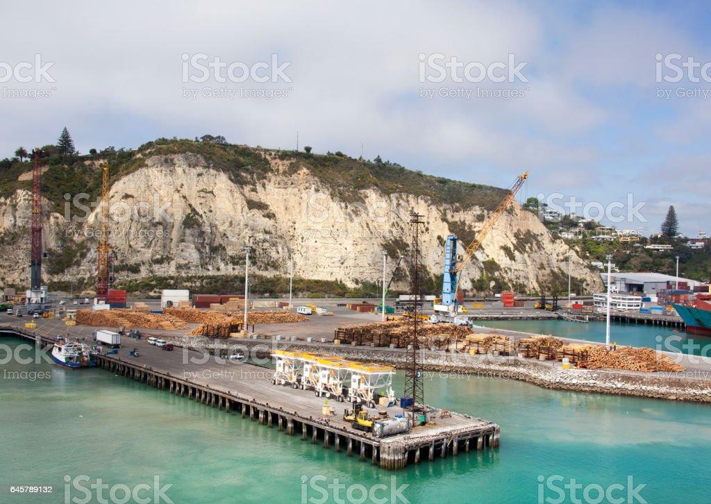 Napier Town Port stock photo