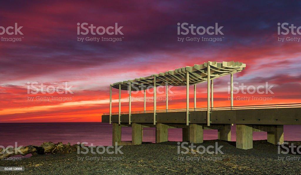 Napier Viewing Platform Sunrise stock photo