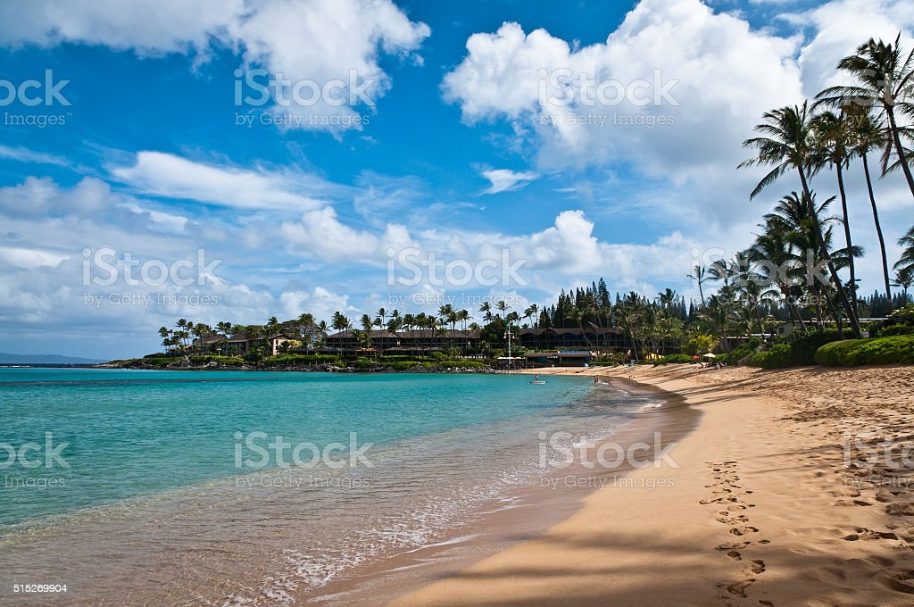 Napili beach in Maui. stock photo