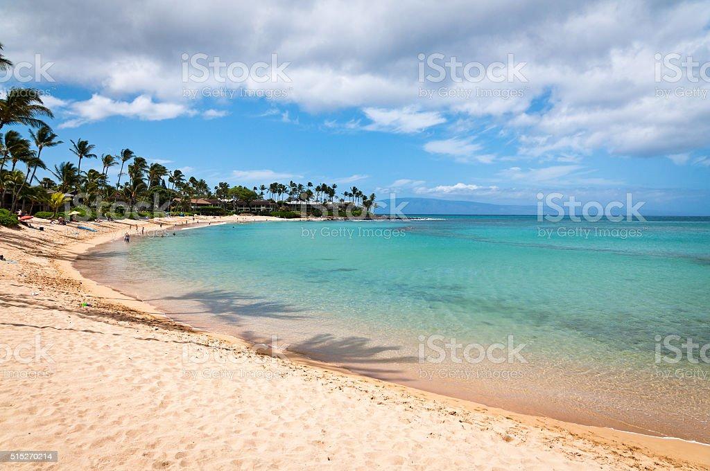 Napili beach stock photo