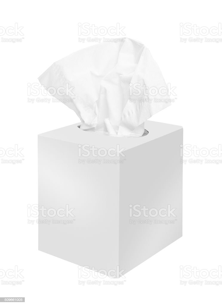Napkin box stock photo