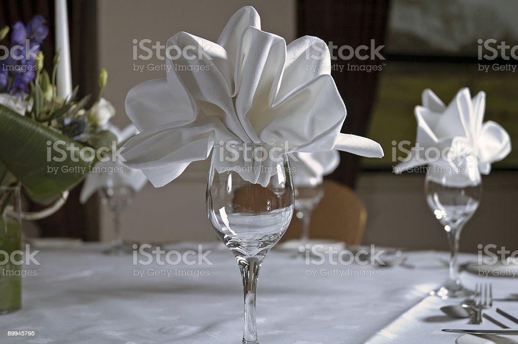 Napking & Glass stock photo