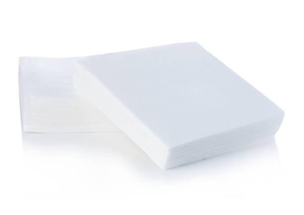 Napkins close-up isolated on white background. stock photo