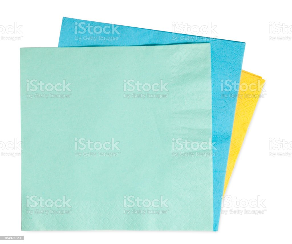 napkins isolated on white background stock photo