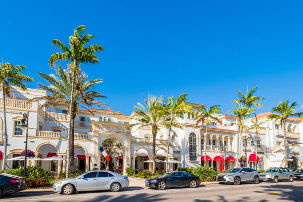 Naples, 5th Ave South - Florida (US) stock photo