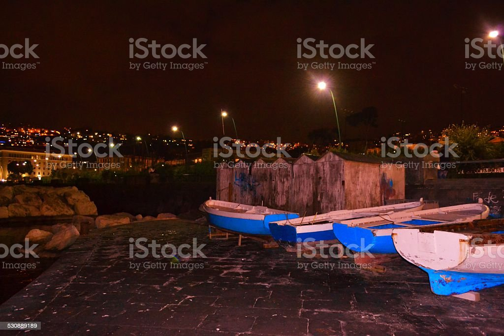 Naples' Bay stock photo