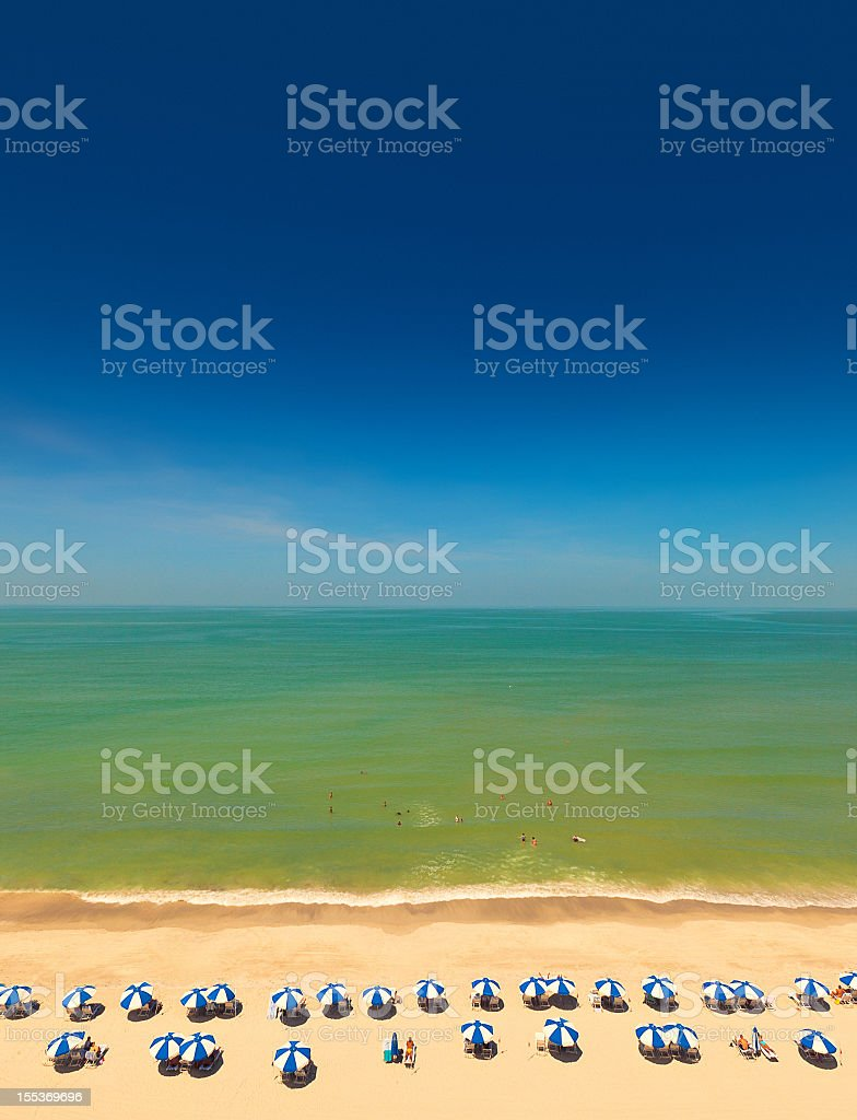 naples beach florida royalty-free stock photo