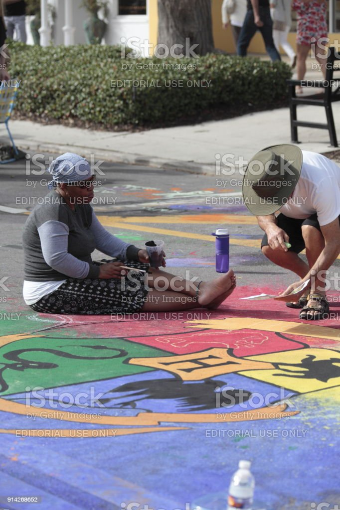 Naples Chalk art on 5th Ave South. Chalk art when professionals,...