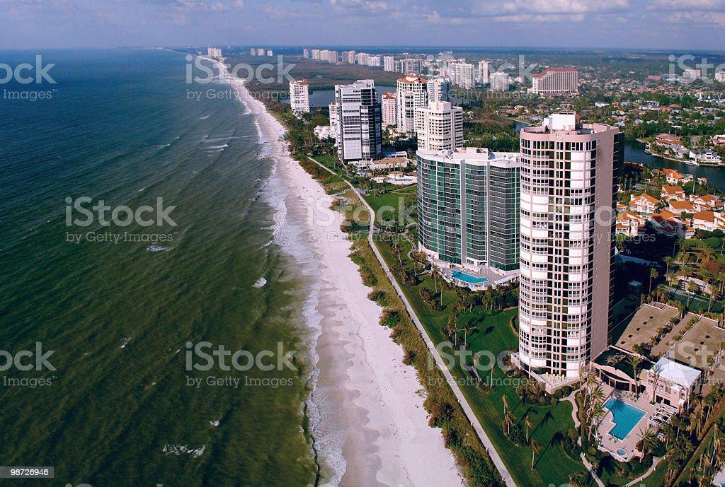 naples florida beach aerial royalty-free stock photo