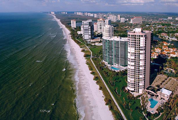 naples florida beach aerial  naples florida stock pictures, royalty-free photos & images
