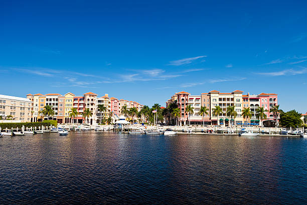 Naples, Florida Colorful buildings from Naples, Florida, USA. naples florida stock pictures, royalty-free photos & images