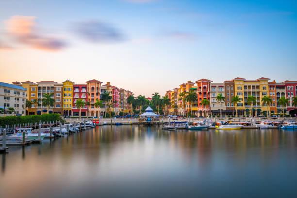 Naples, Florida, USA at Dusk stock photo