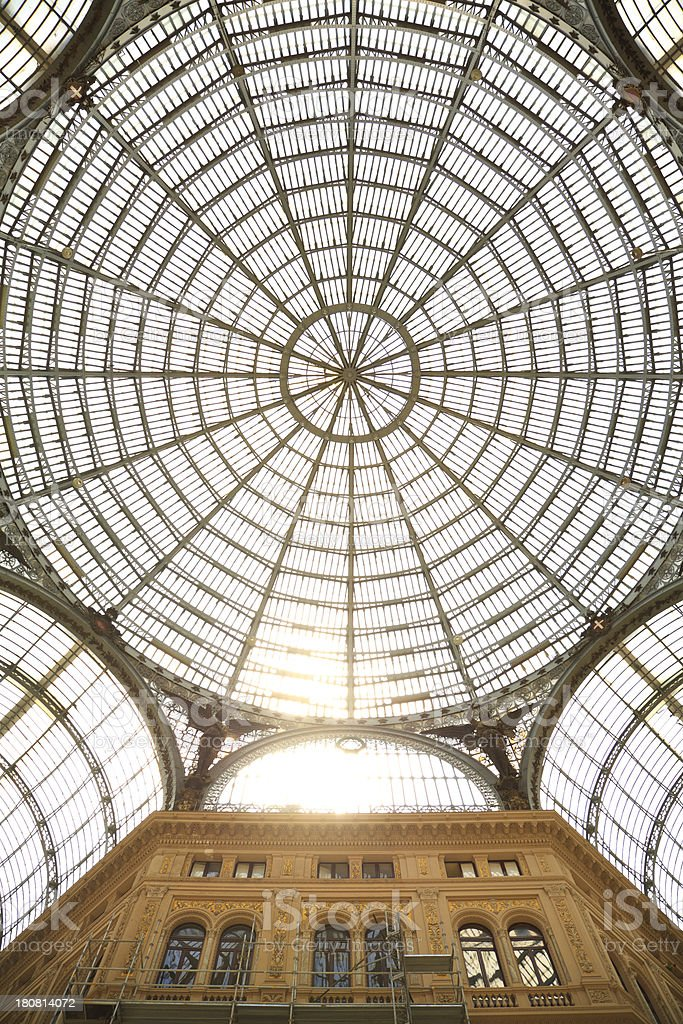 Naples - Galleria Umberto I from below royalty-free stock photo