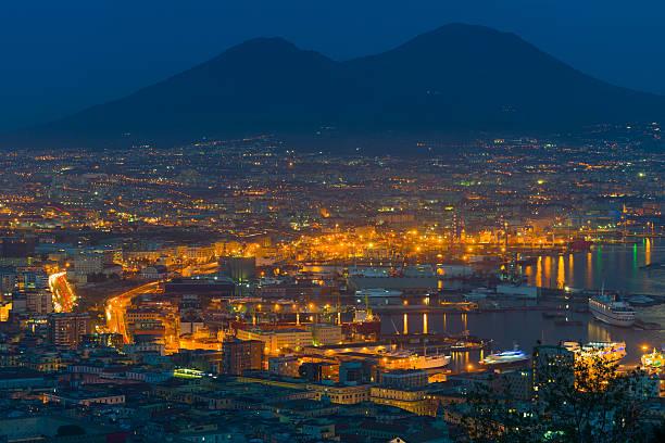 Neapel in einem Sommer-Nacht – Foto