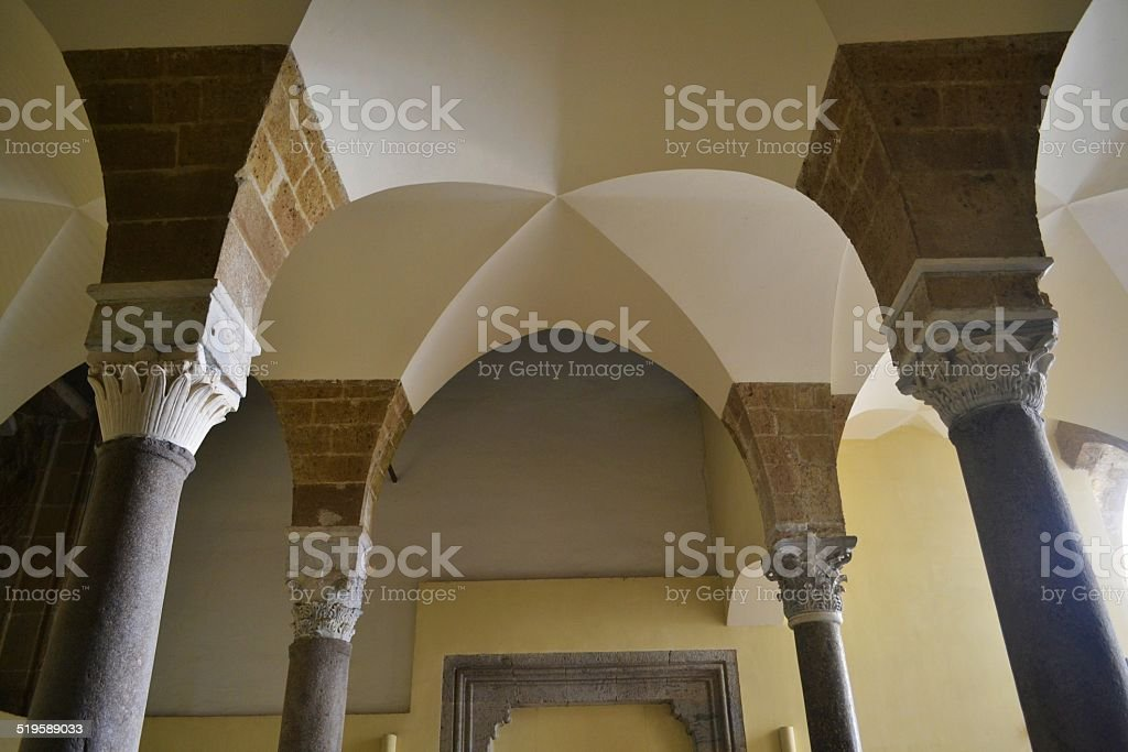 Naples, inside old monastery stock photo