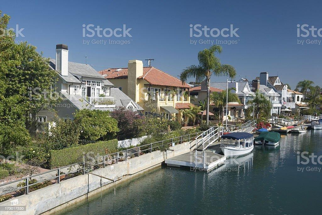 Naples Island Houses, Long Beach royalty-free stock photo