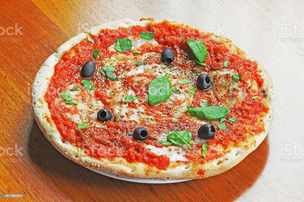 Naples , Italy March, 03 , 2012    Italian pizza in Naples stock photo