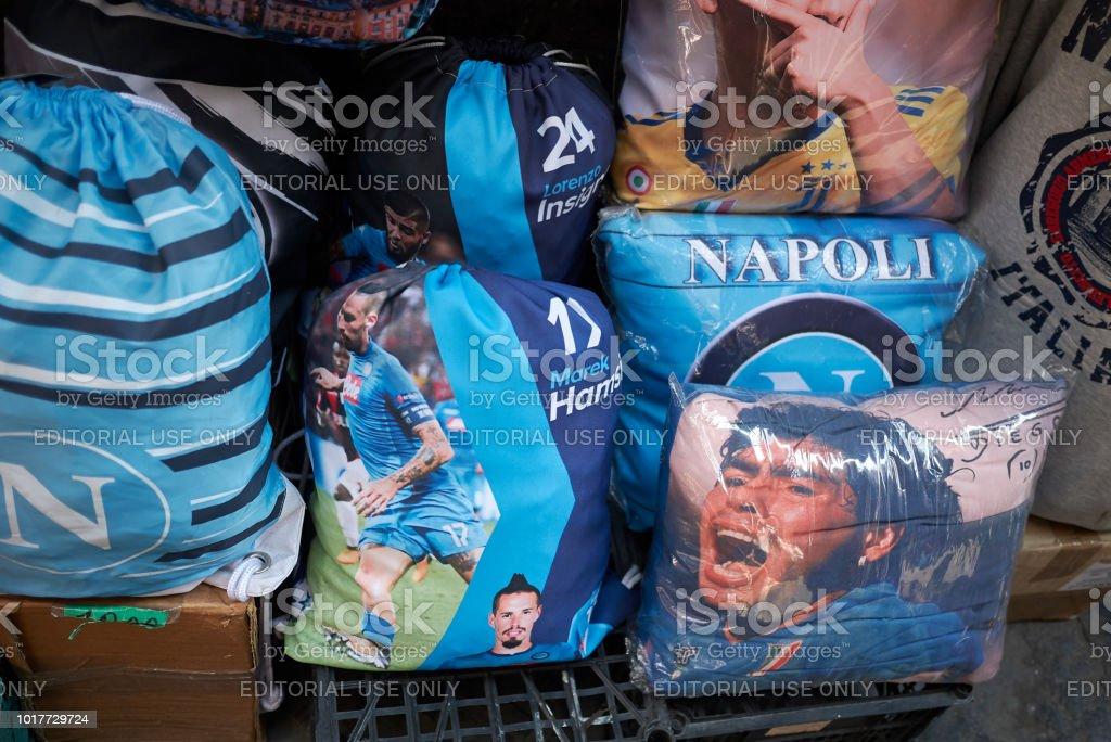 Naples, Italy - Стоковые фото Diego Maradona роялти-фри