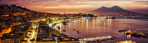 Naples Pano stock photo