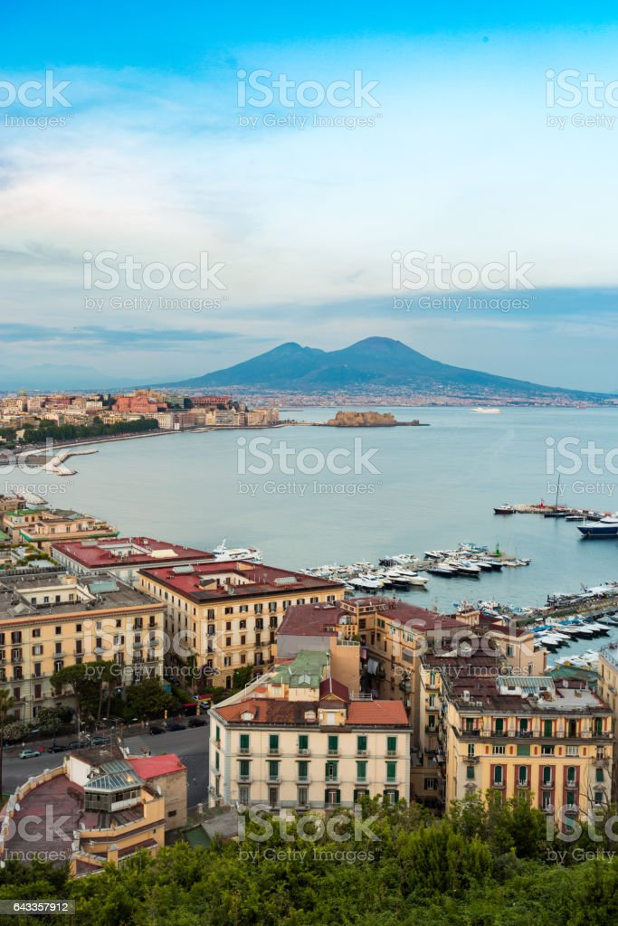 Naples, scenic view from a Posillipo terrace stock photo