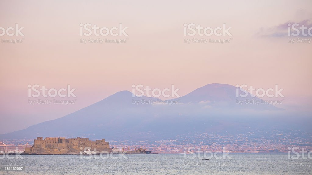 Naples sunset. royalty-free stock photo