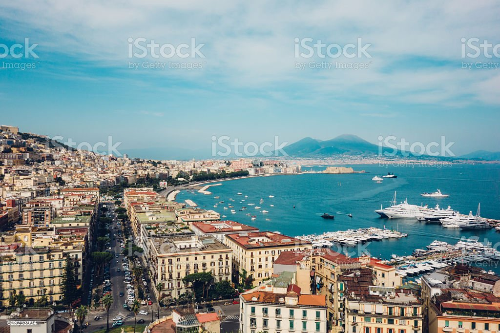 Naples view, Italy stock photo