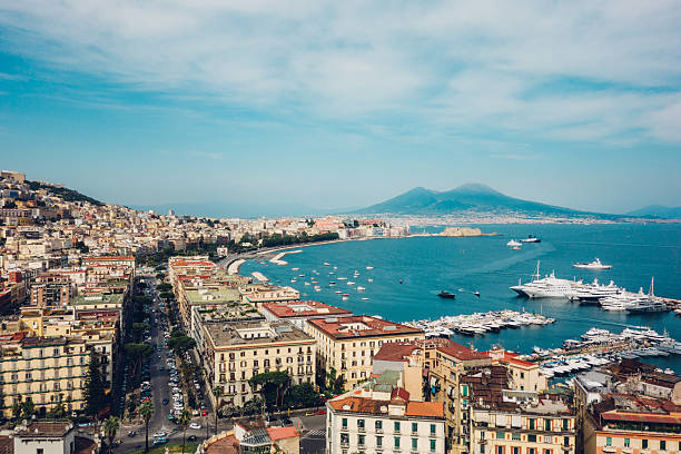 naples view, italy - south stock pictures, royalty-free photos & images