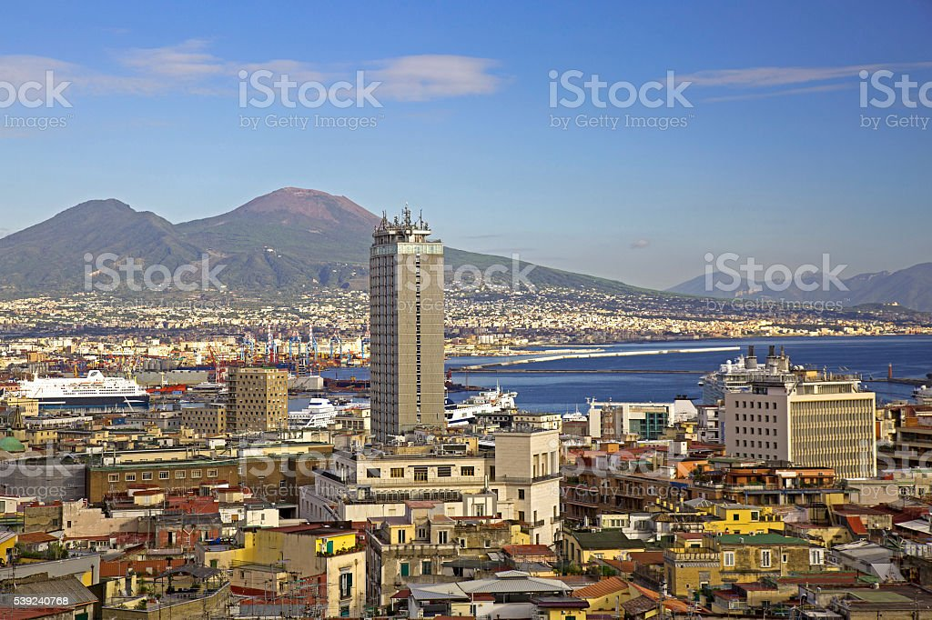 Naples view with skyscraper royalty-free stock photo