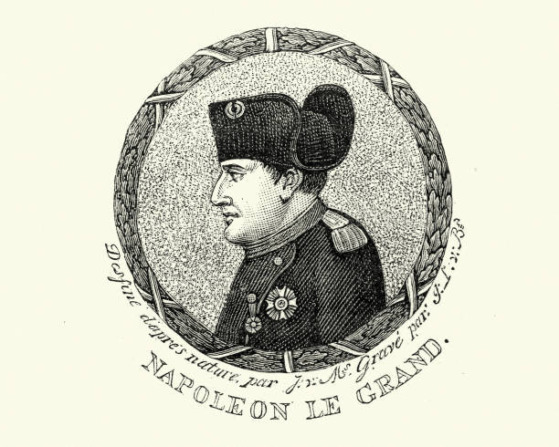 napoleon bonaparte - woodcut stock photos and pictures