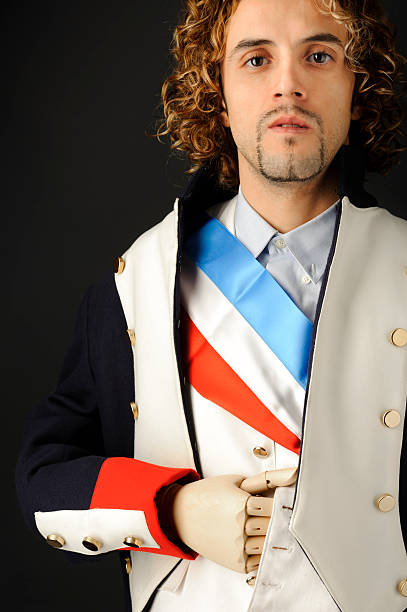 Napoleon Bonaparte portrait stock photo