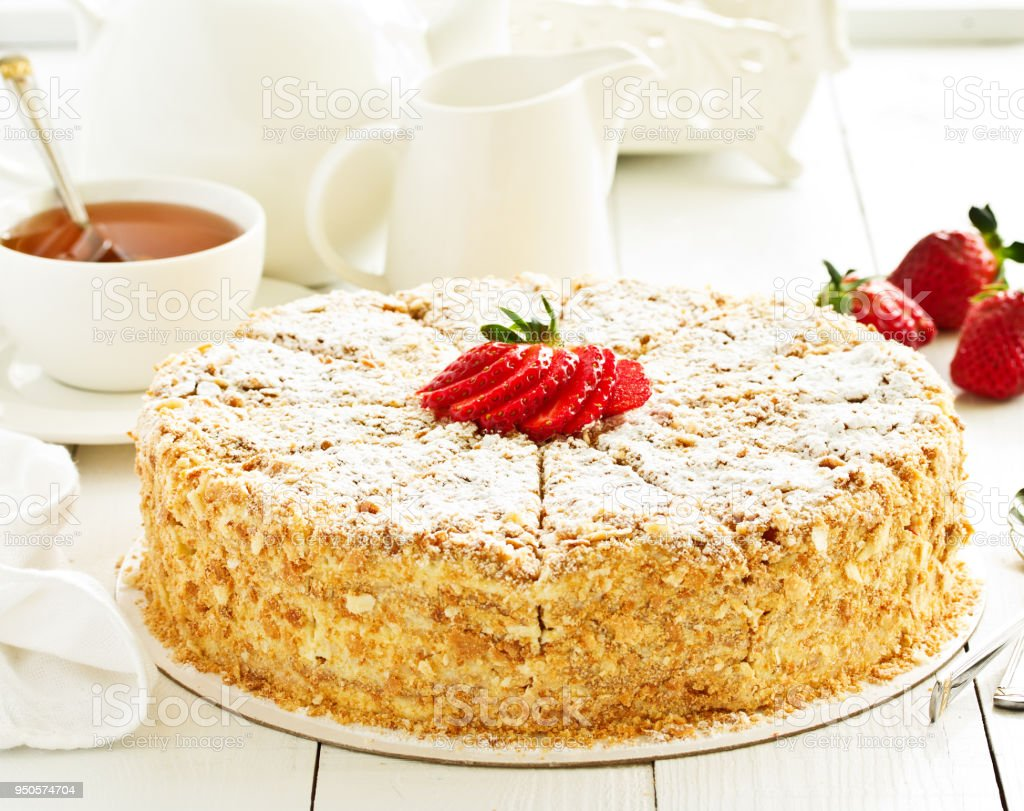 Napoleon Cake Selective Focus Stock Photo More Pictures Of