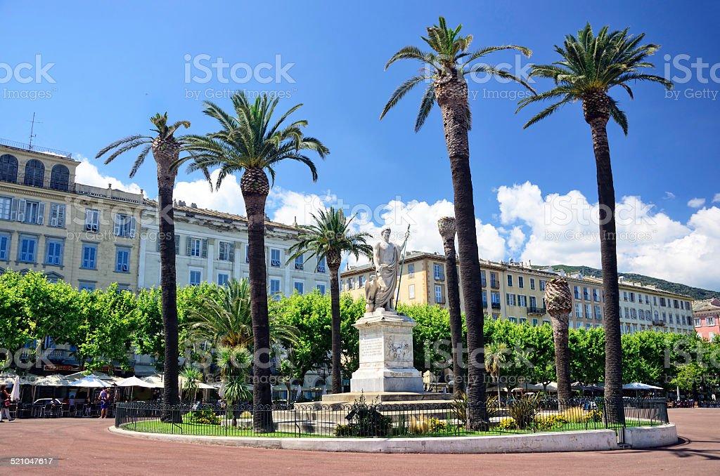 Napoleon in Bastia stock photo