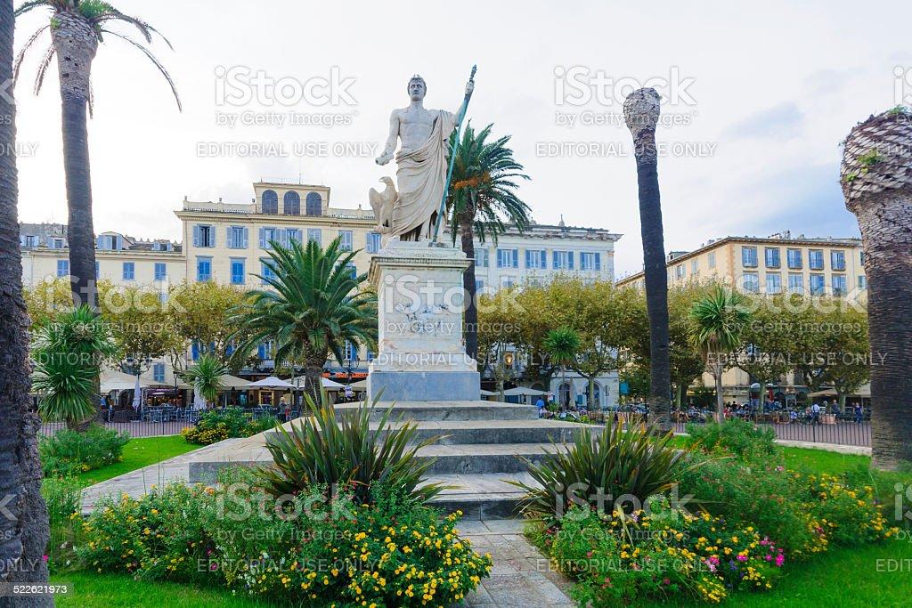 Napoleon Statue, Bastia stock photo