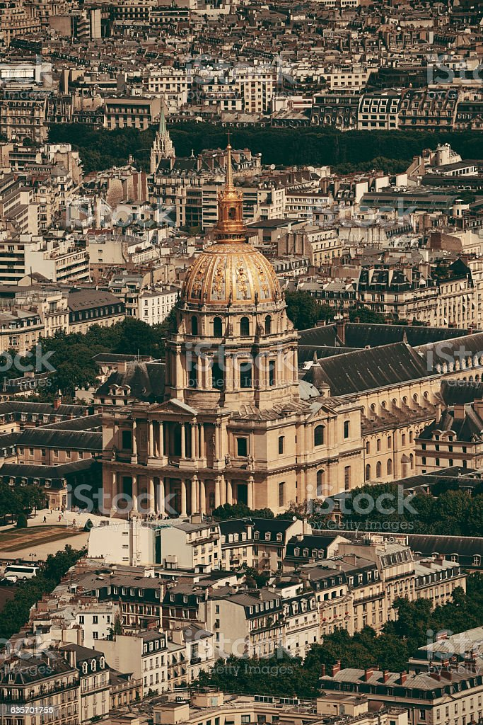 Napoleon's tomb rooftop view royalty-free stock photo