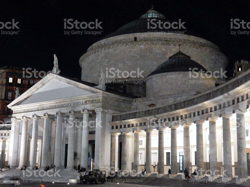 Napoli - Basilica di San Francesco di Paola stock photo