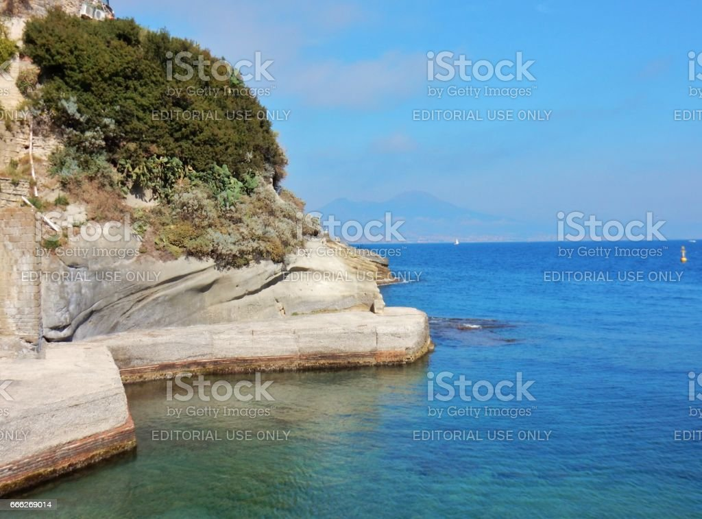 Napoli - Costa di Gaiola stock photo
